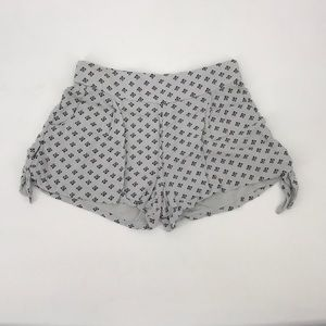 Free People Gray and Black Shorts side knots (ER1)